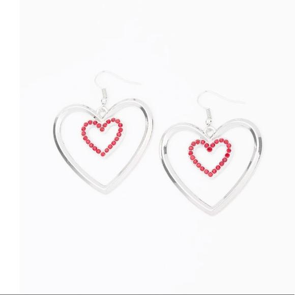 K63 Silver> red > earrings